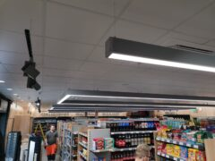 LED lighting in grocery shop