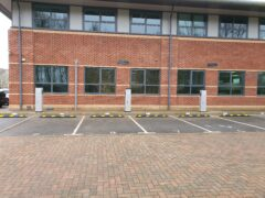 Electric vehicle chargers in car park