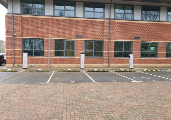 Electric vehicle chargers installed at commercial premises