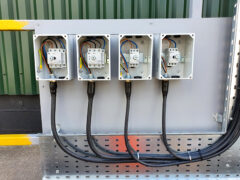 4 isolator switches ready to have front fitted